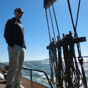 Felix Keller beim Segeln