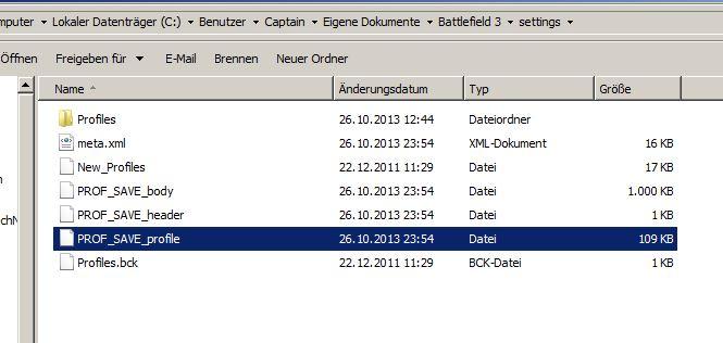 Battlefield Maus Einstellungen Datei BF3 finden