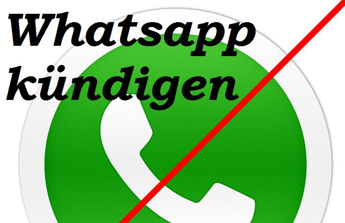 Whatsapp kündigen