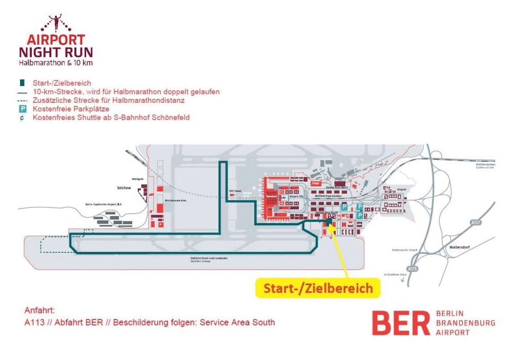BER Airport Run 2014 - Strecke