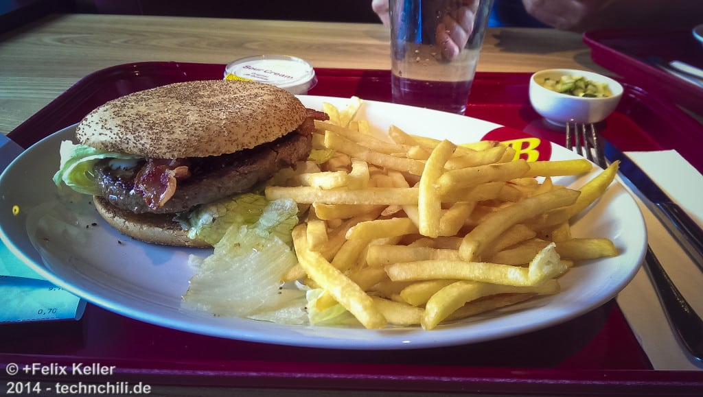 NY Blue Cheese Block Burger - Realität