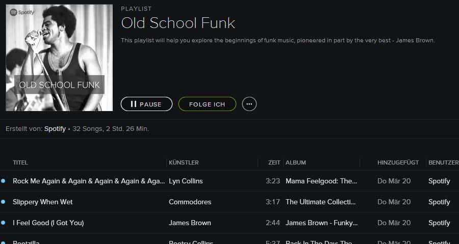 Spotify lieblings playlist old school funk technchili blog for Classic house playlist