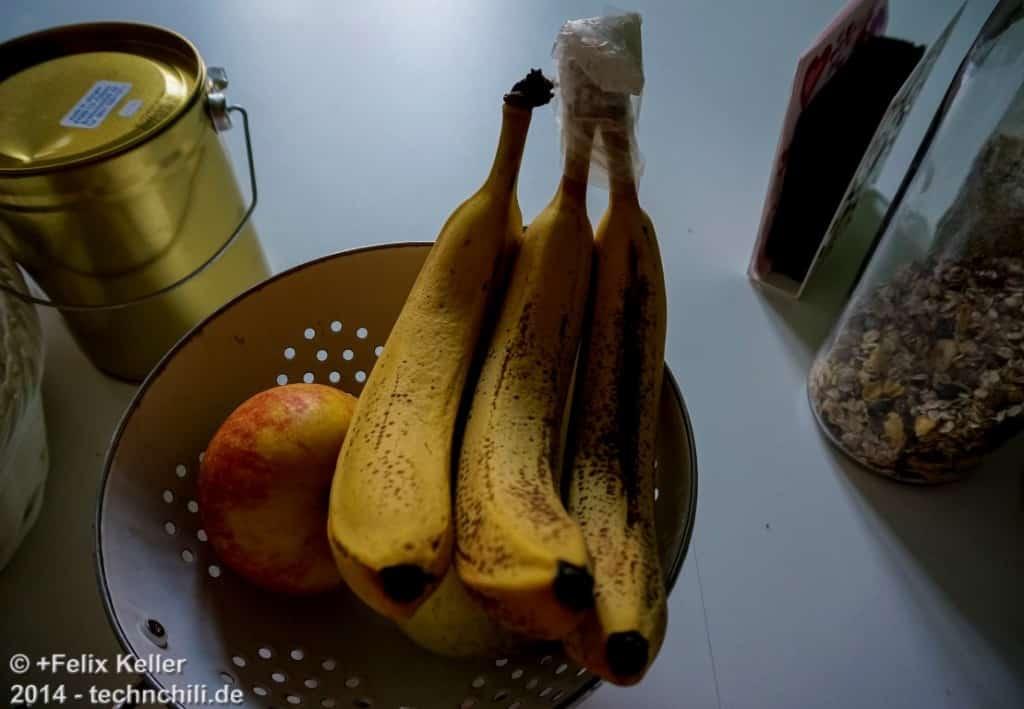 Bananen-Frischhalte-Trick - Nach 4 Tagen