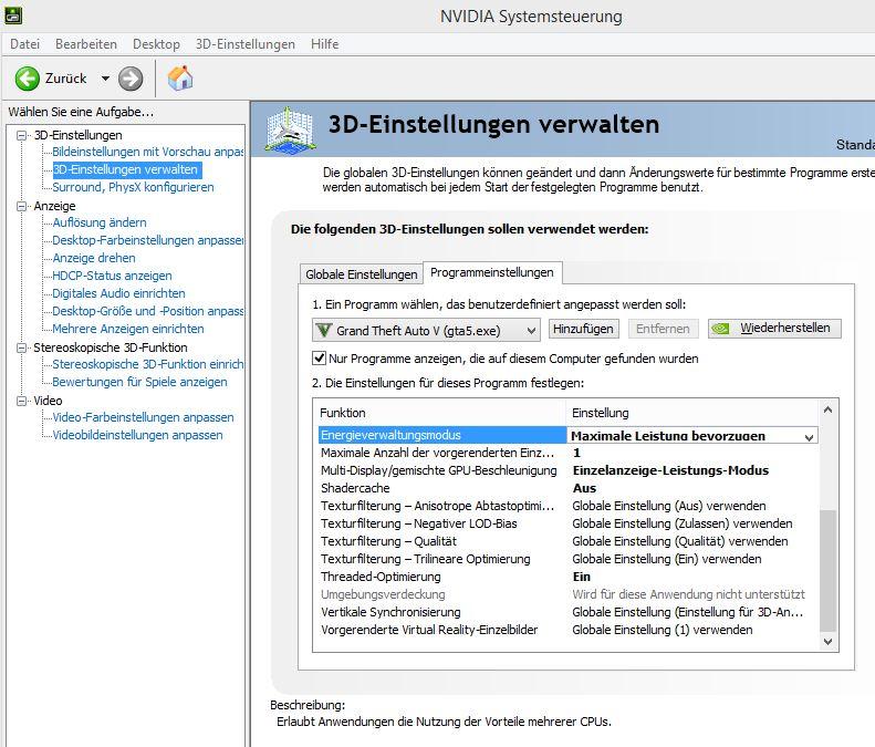 GTA V Stuttering FIX für PC - NVIDIA Profil