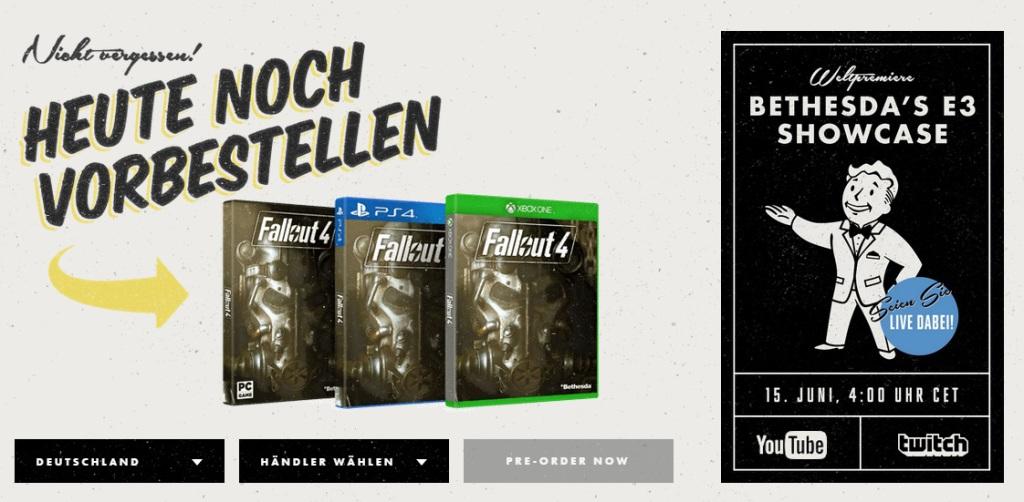Fallout 4 Vorbestellen + E3 Showcase