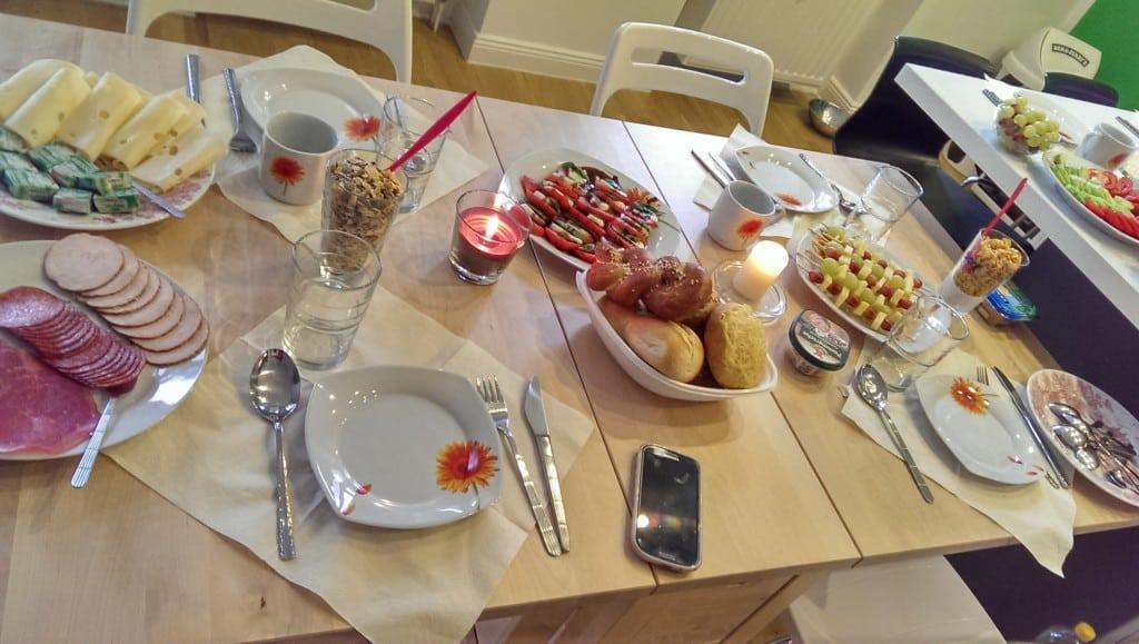 Geburtstagsbrunch - Tisch Nummer 1