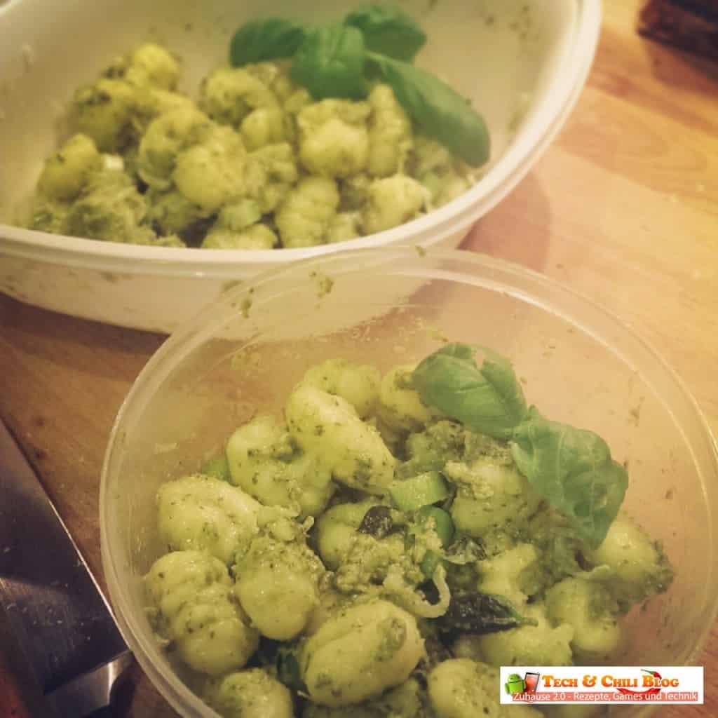 Mealprep Gnoccis mit Pesto Genovese