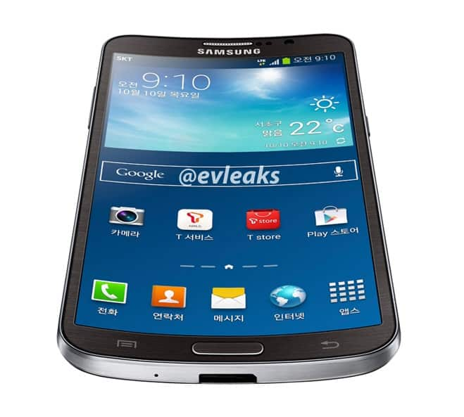 Samsung Curved Galaxy Note 3 Galaxy Round Leaked Press Render