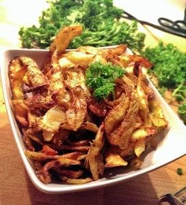 Gebratene Kartoffelschalen