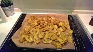 Gebratene Kartoffelschalen hot