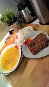 Scharfe Karotten-Ingwersuppe mit Chili