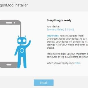 Cyanogen Mod Installer bereit