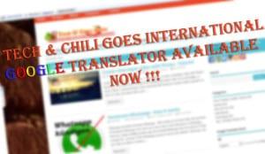 Blognews: technchili goesinternation