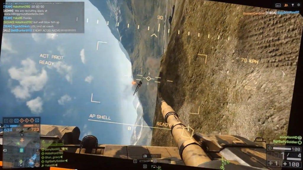 Battlefield 4 Flying Tank - Peek-A-Boo