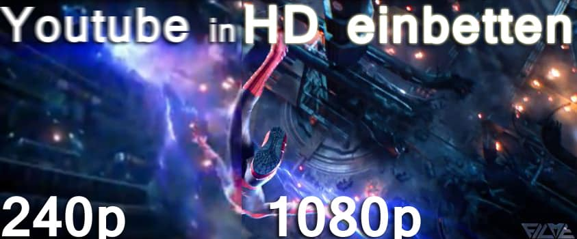 Youtube Videos in HD einbetten