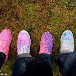 Holi Festival Berlin 2014 - Bunte Schuhe