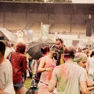Holi Festival Berlin 2014 - Festival im Regen