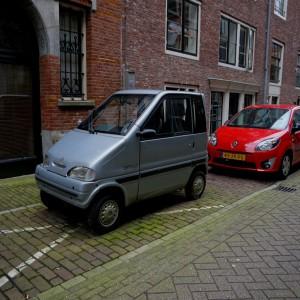Micro-Autos sind hier oft zu sehen