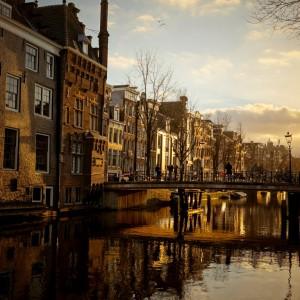 Amsterdam im Abendlicht