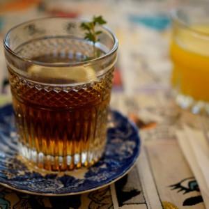 Wakeup-Drink mit Thymian und Scotch