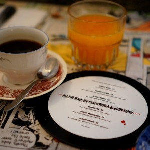 Kaffe und Getränkekarte