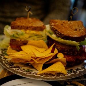 Sandwiches zum Frühstück