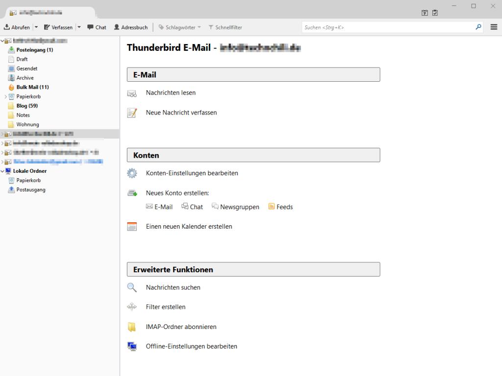 Thunderbird von Mac auf PC umziehen