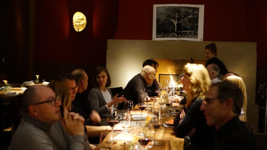 Eine feine gemütliche Runde im Orania Restaurant.JPG